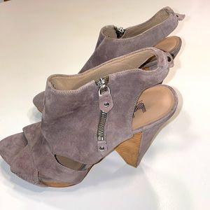 Belle Sigerson Morrison suede bootie sandals Sz 6